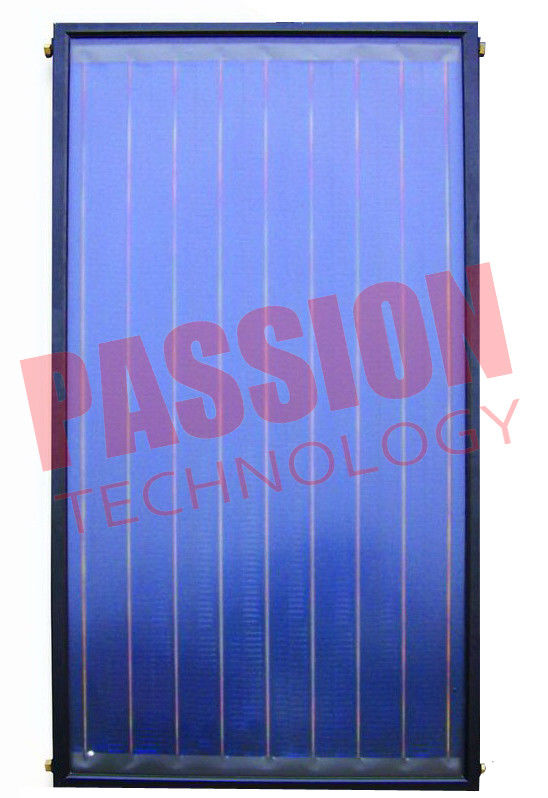 304 Stainless Steel Flat Plate Solar Collector Glass Cover Material 0.6Mpa